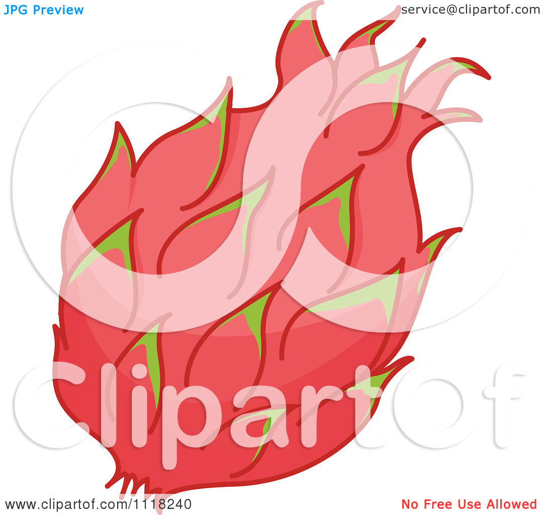Vector Clipart Of Pink Dragon Fruit.