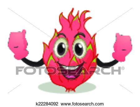 Dragon fruit Clipart.