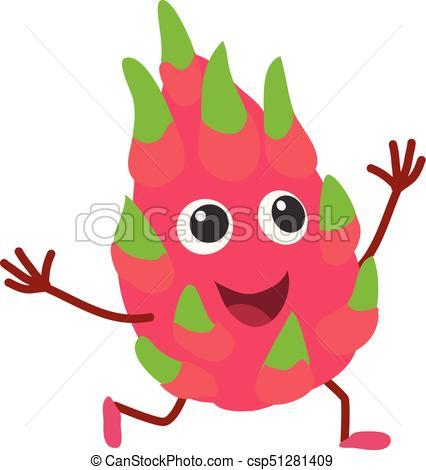 Dragon fruit icon, cartoon style.