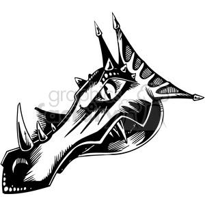 dragon head clipart. Royalty.