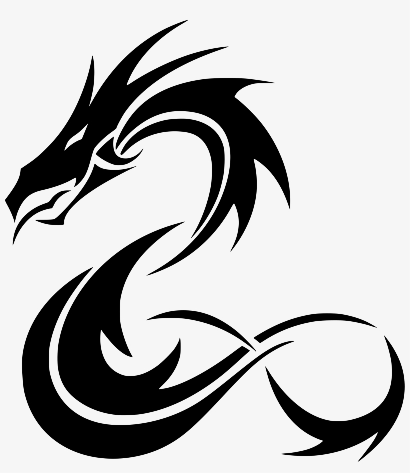 This Free Icons Png Design Of Tribal Coiled Dragon.