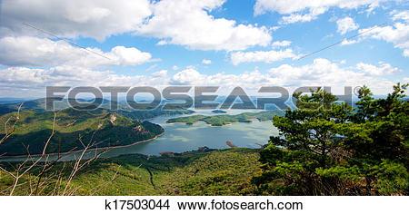 Stock Photo of Beautiful Dragon Lake k17503044.