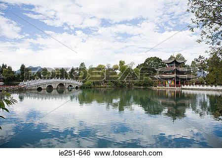 Stock Images of Black dragon lake ie251.
