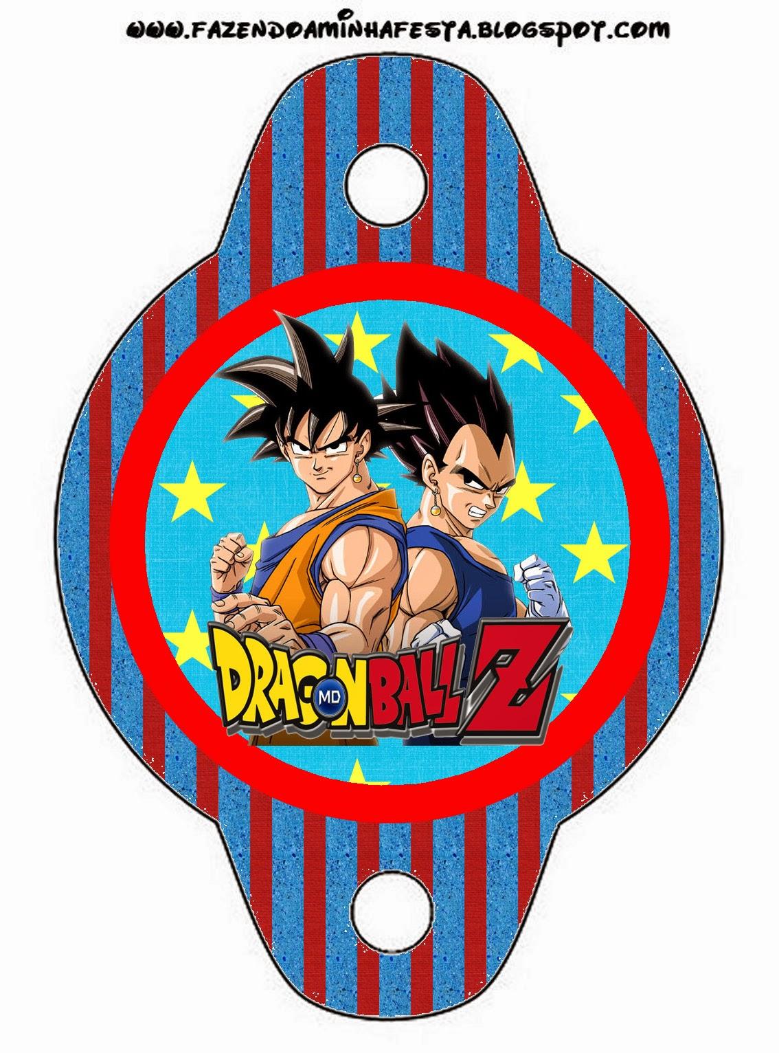 Dragon Ball Z: Free Printable Candy Bar Labels..