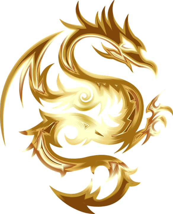 Gold Dragon Png Vector, Clipart, PSD.