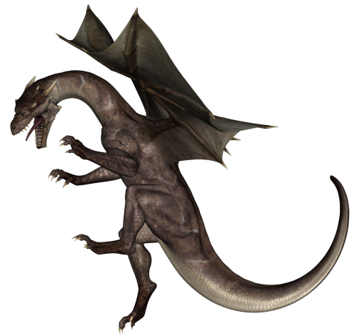 Fire Dragon PNG Picture.