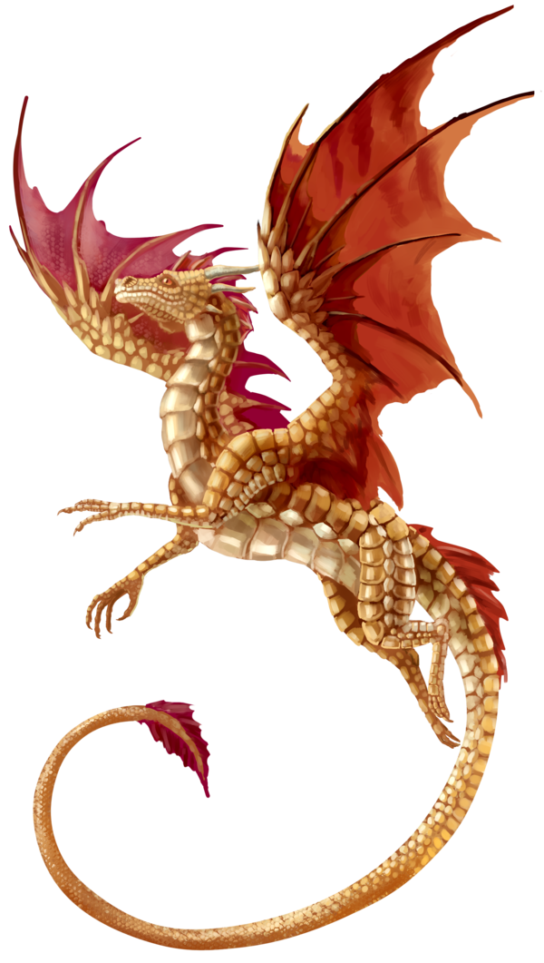 Flying Dragon Transparent Background.