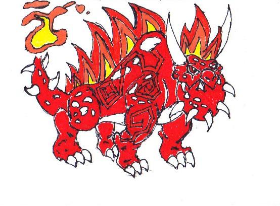 Flaming Rock Dragon by Buddhadragon on DeviantArt.