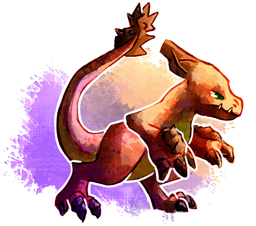 Dragon/Rock type Charmeleon by SunsetTheDragon on DeviantArt.