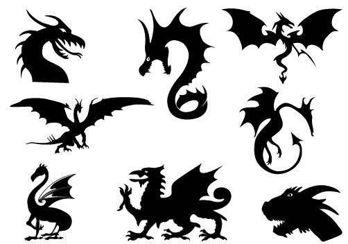 Dragon shadow clipart 20 free Cliparts | Download images ... Crocodile Tattoo Tribal