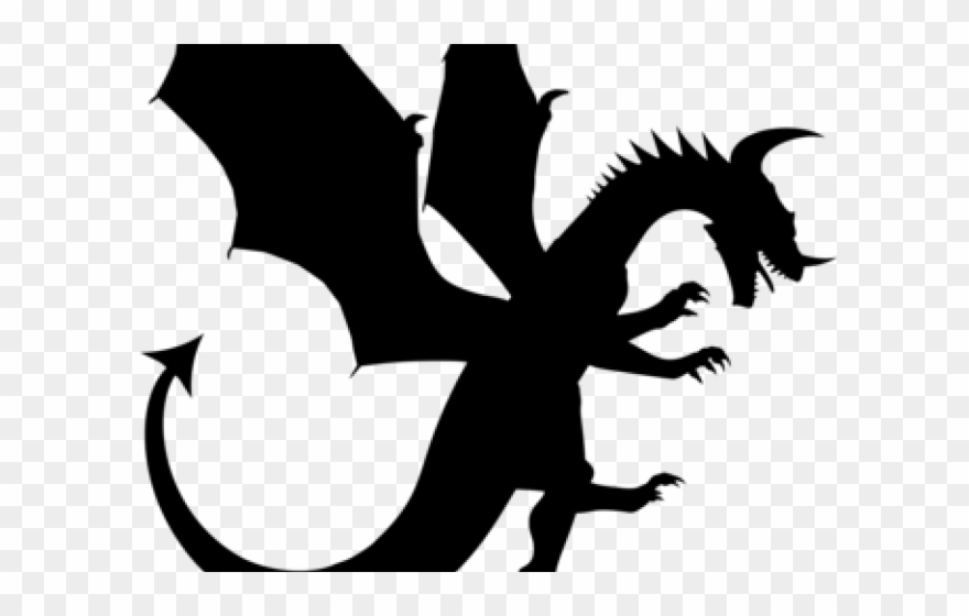 Shadow Clipart Dragon.