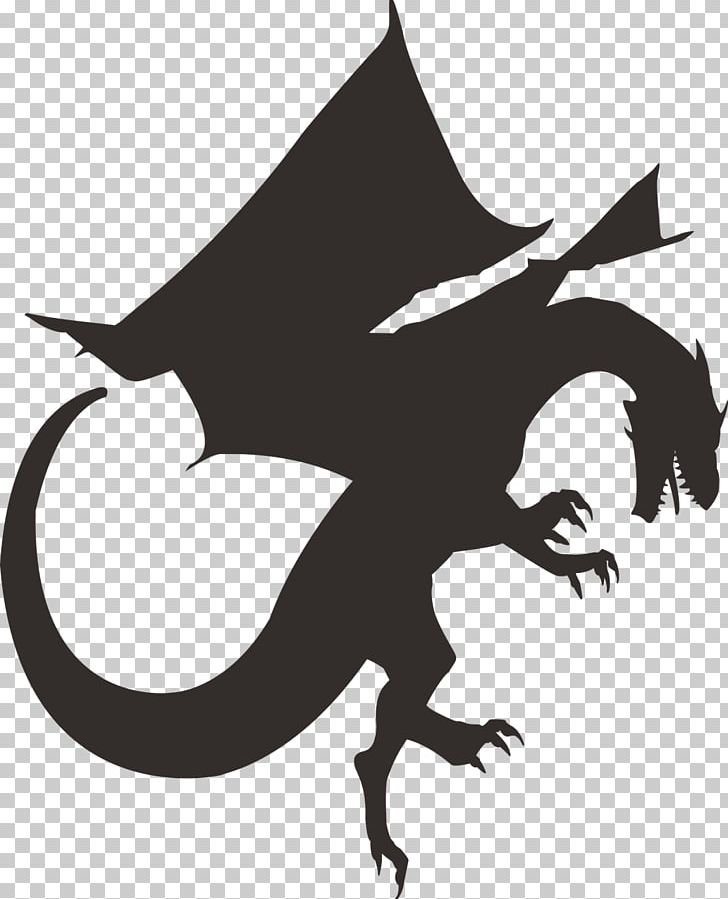 Dragon Silhouette PNG, Clipart, Art, Black, Black And White, Chinese.