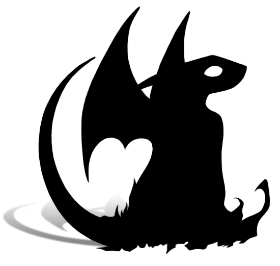 Flying Dragon Silhouette.
