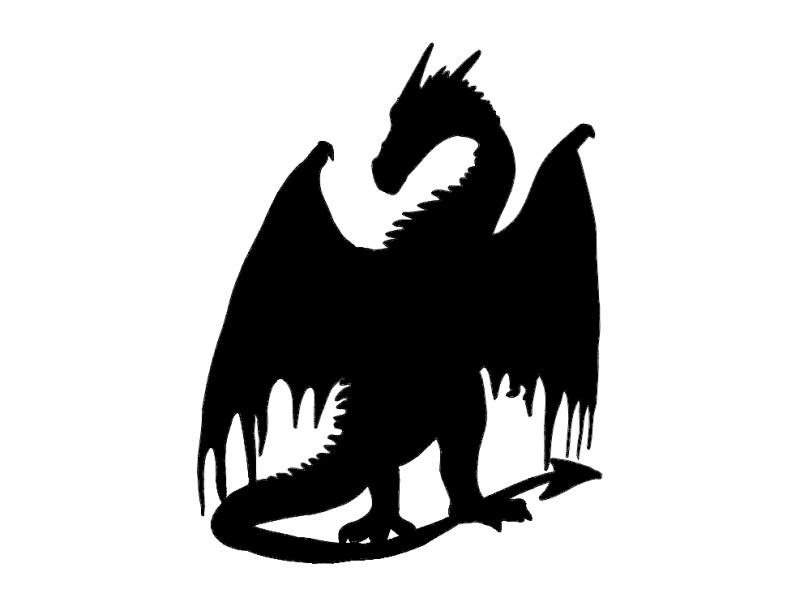 Dragon Silhouette.