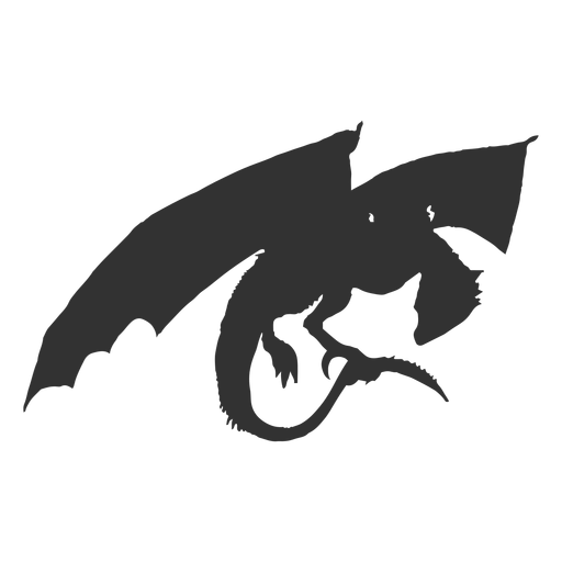 Mythical dragon silhouette.