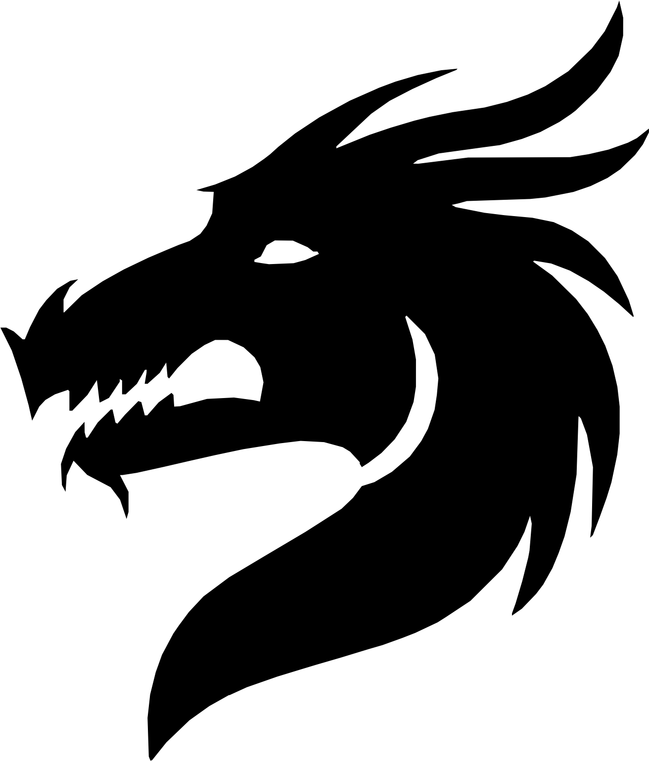 Vector graphics Silhouette Dragon Clip art Portable Network.