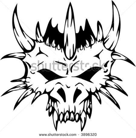 tribal dragon skull.