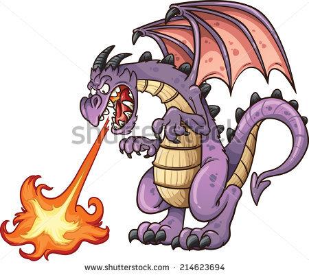 Dragon Fire Stock Photos, Royalty.