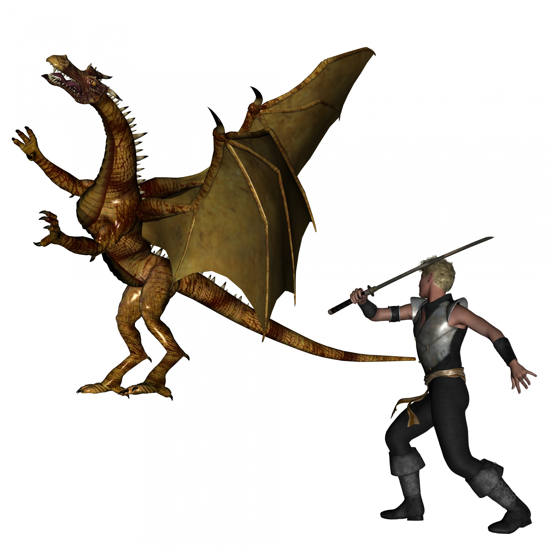 Dragon slayer clipart.