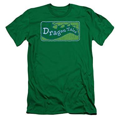 Amazon.com: Dragon Tales Logo Distressed Men\'s Slim Fit T.