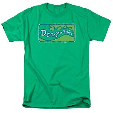 Amazon.com: Dragon Tales Logo Clean Men\'s Regular Fit T.