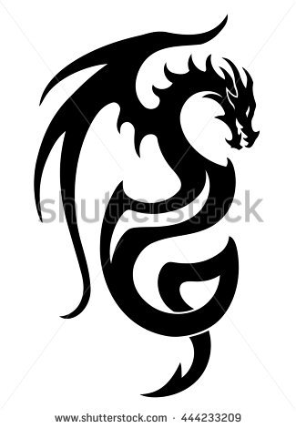 Dragon Tattoo Stock Images, Royalty.