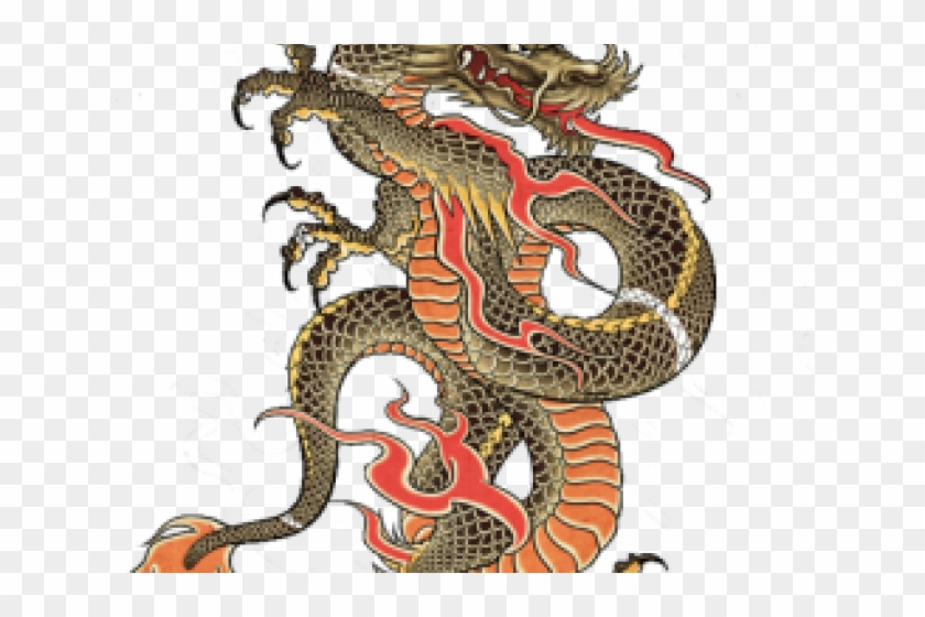 Chinese Dragon Tattoo Png, Transparent Png.
