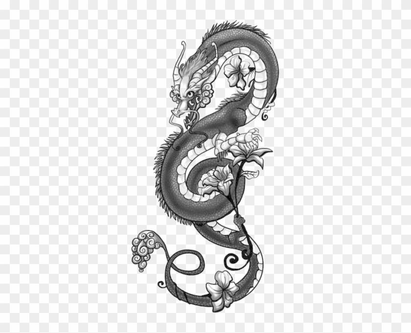 Dragon Tattoo Png Image.