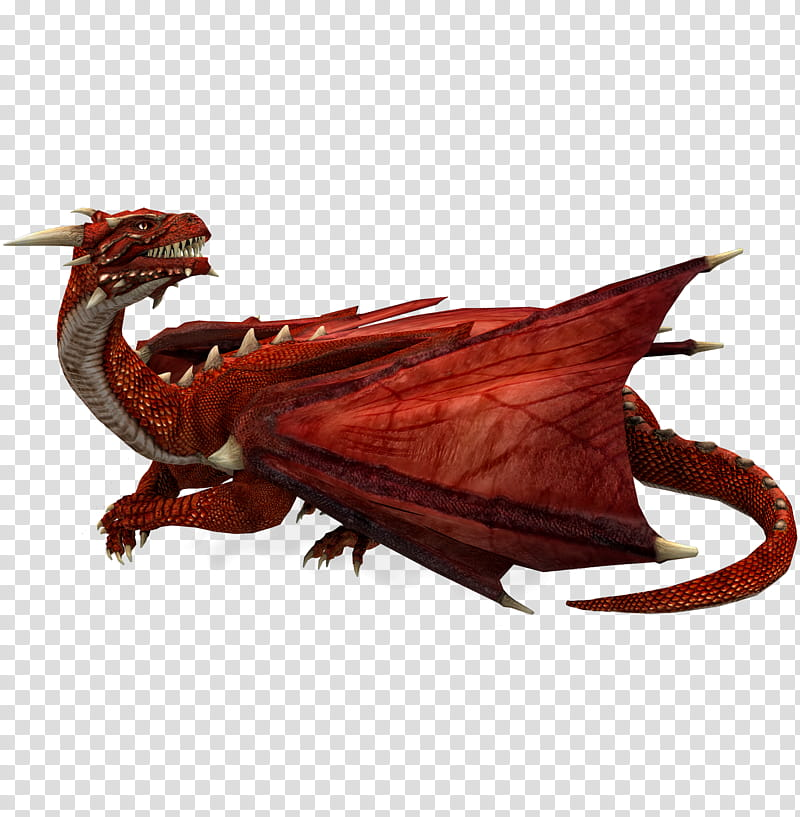 E S Red Dragon II, red dragon transparent background PNG.