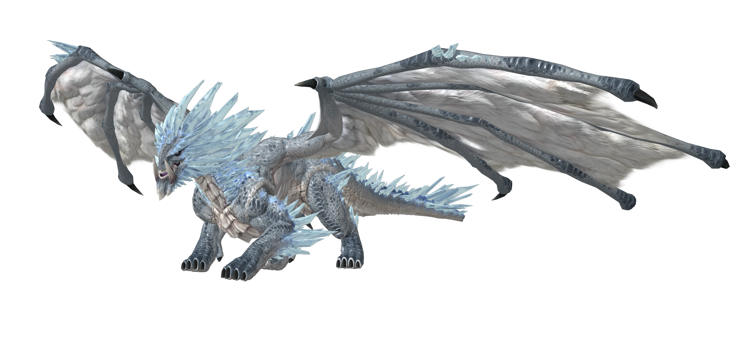 Ice Dragon PNG Image Transparent Background.