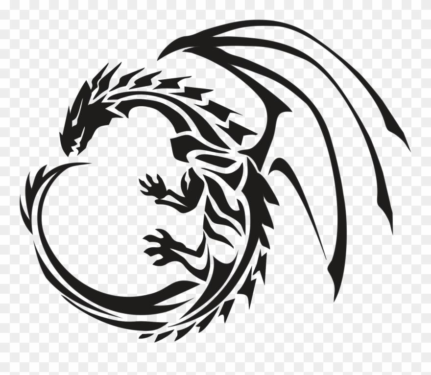 Circle Dragon Tattoo Transparent Png Stickpng Gold.