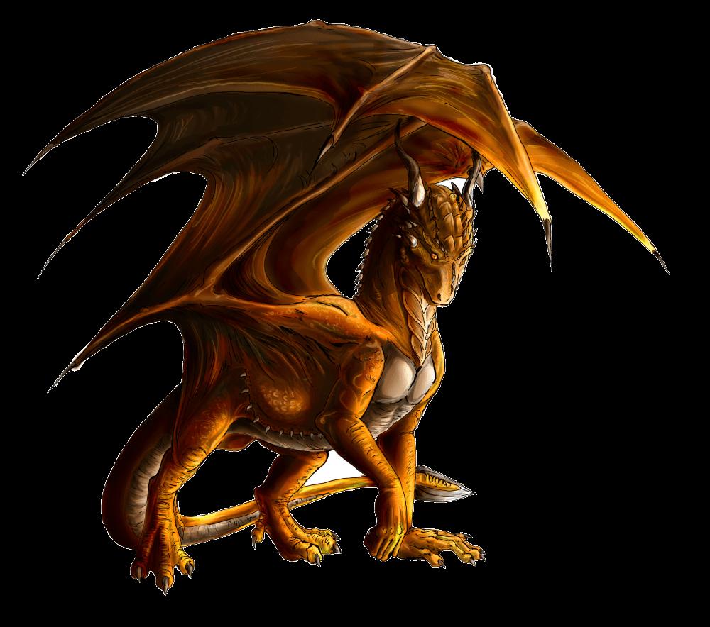 Large Brown Dragon transparent PNG.