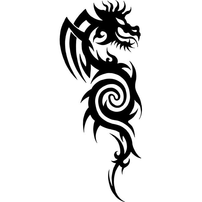 dragon tribal vector.