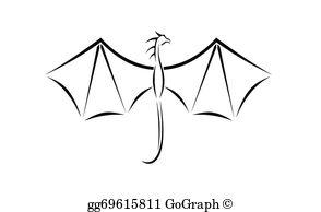 Dragon Wings Clip Art.