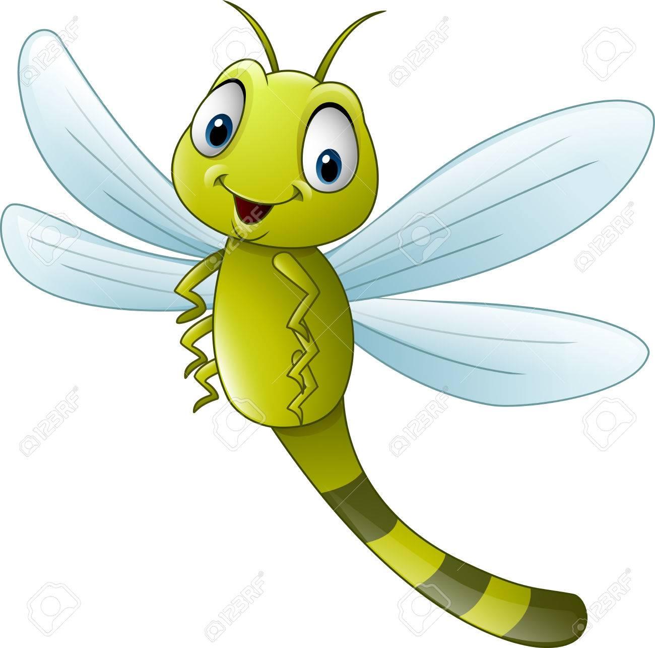 illustration of Cartoon dragonfly.