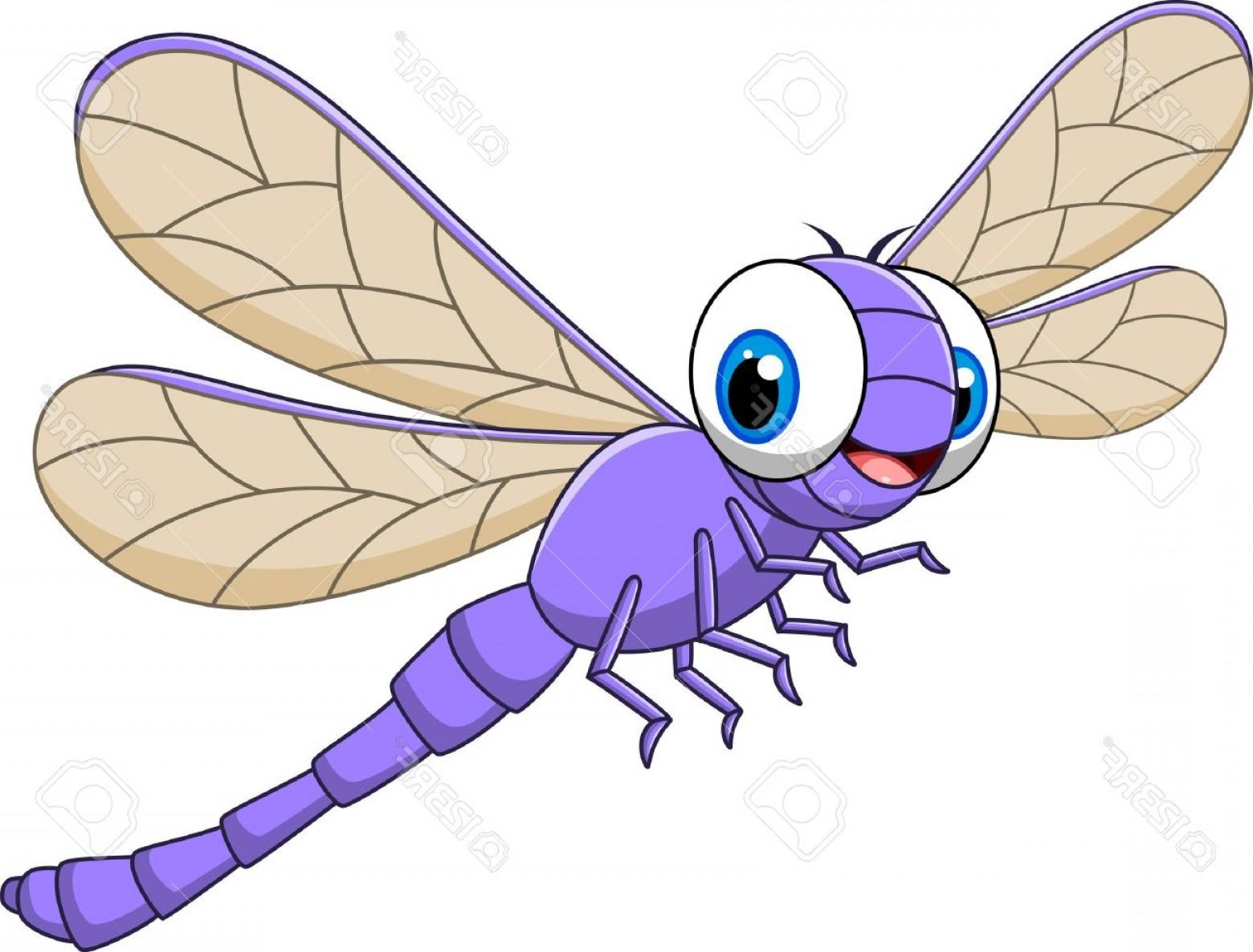 Dragonfly Vector Clip Art.