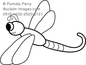 black and white dragonfly clipart & stock photography.