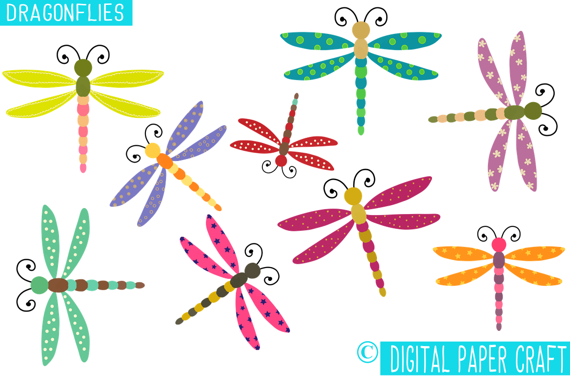 Dragonflies 2, Dragonfly Clipart, Clipart, Whimsy Clipart, By.