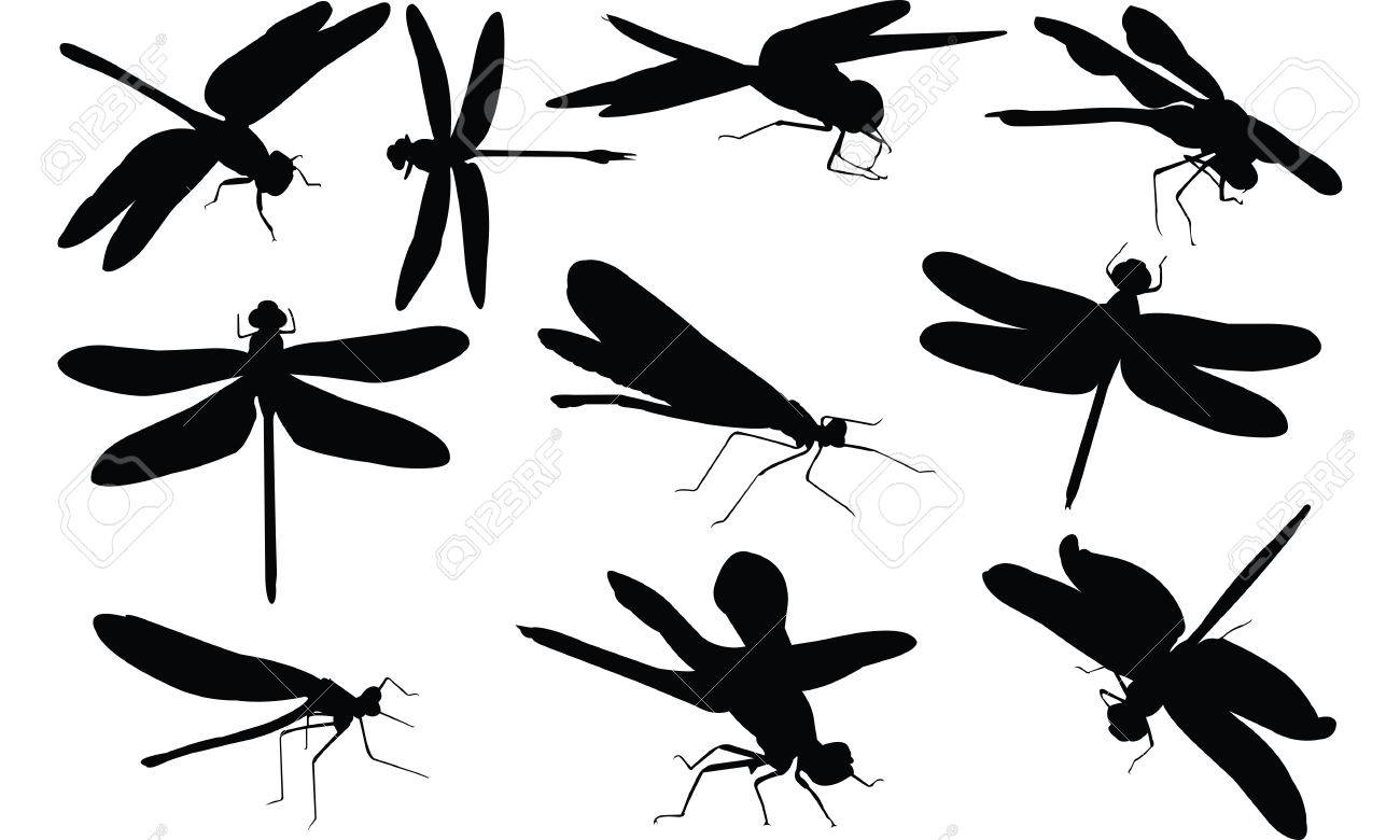 Free clipart dragonfly silhouette 3 » Clipart Station.