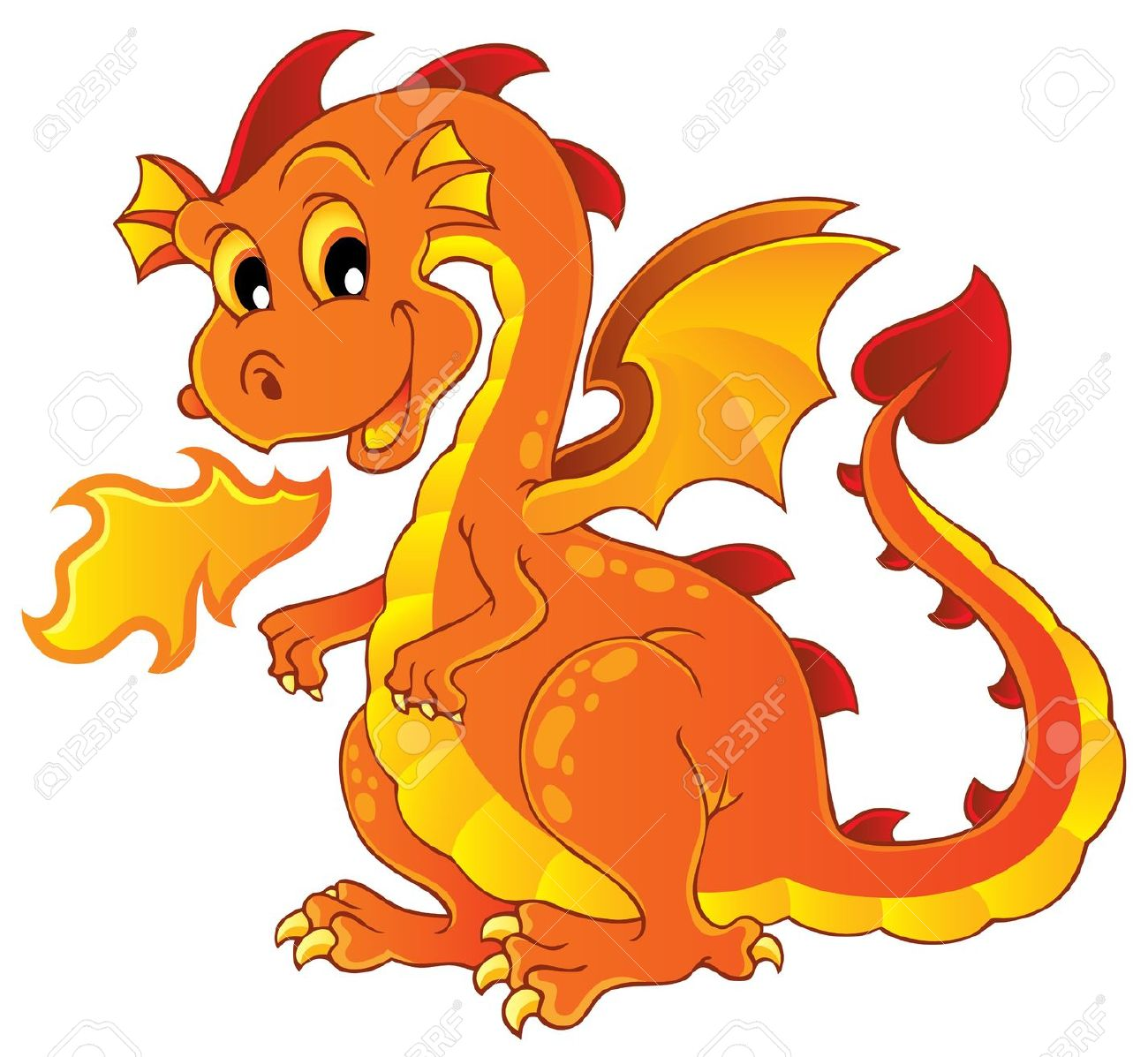 Clip art of dragons.