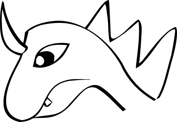 Dragon Head clip art Free vector in Open office drawing svg ( .svg.