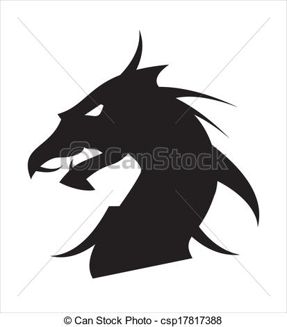 Vector of dragon head.