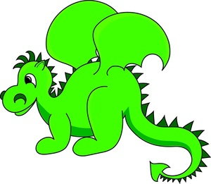 Dragon Clipart Black And White.