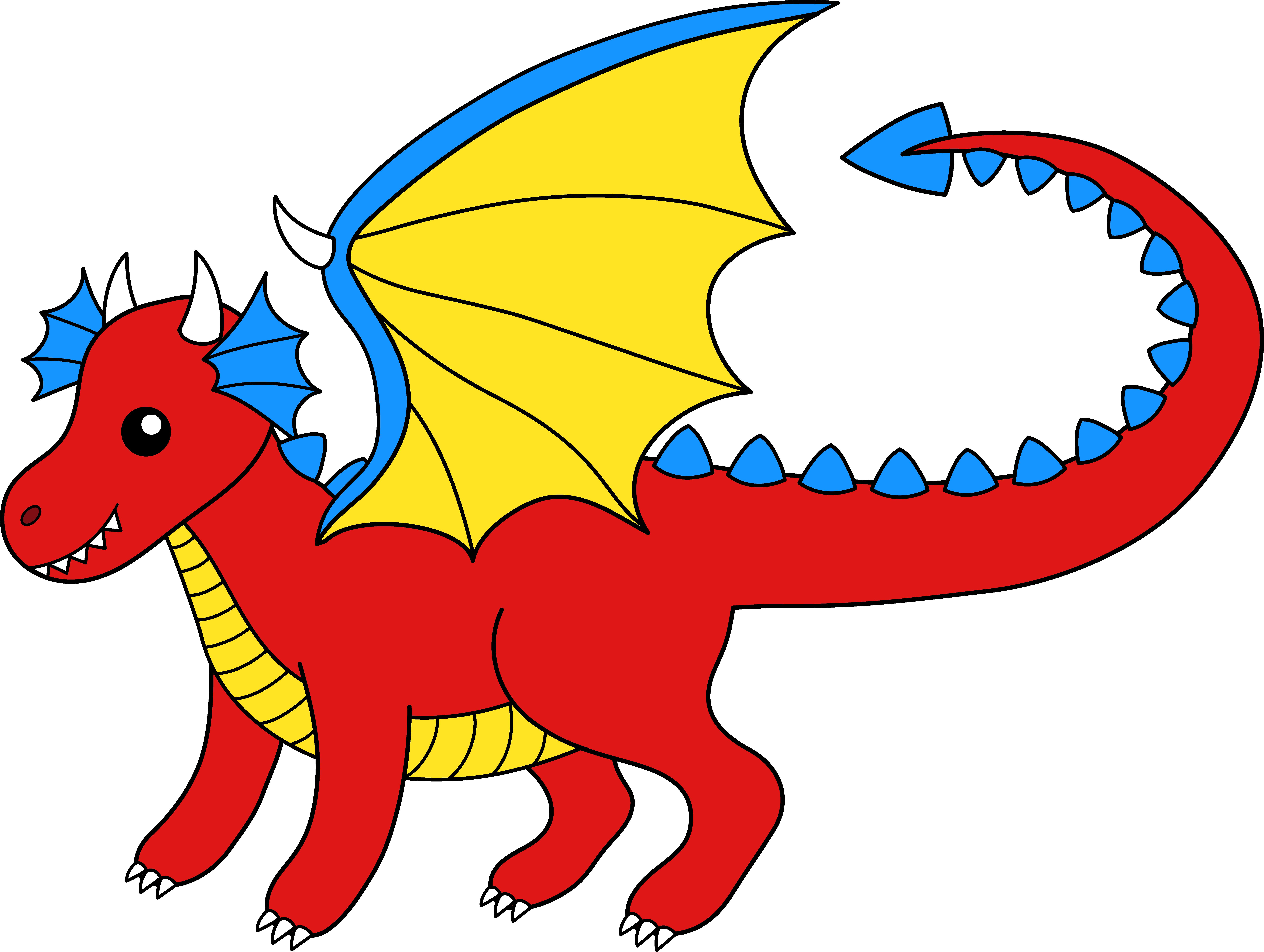 Digital animated dragon clipart.