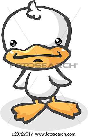 Clip Art of fowl, duckling, bill, beak, drake, webfoot, duck.