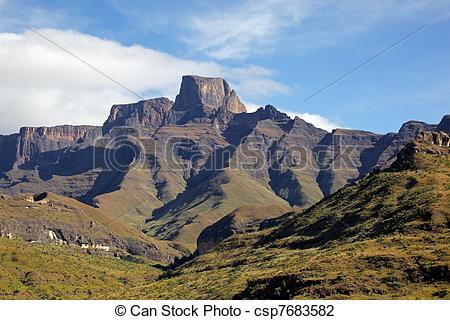 Stock Photo of Drakensberg mountains.