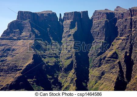 Stock Image of Drakensberg mountains.