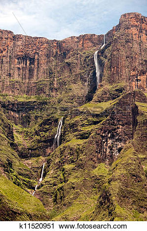 Stock Photography of Drakensberg mountains in South A k11520951.