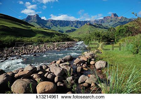 Stock Photography of Drakensberg mountains k13214961.