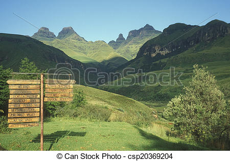 Stock Photography of Drakensberg Mountains.
